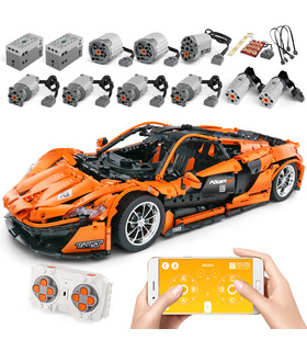 MOULD KING 13090D McLaren P1 Racing Car Remote Control Building Blocks Toy Set