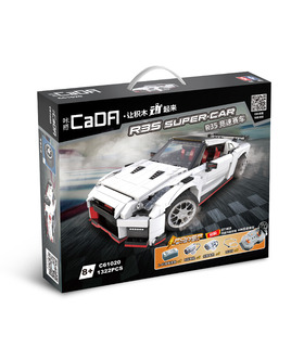 Када C61020 ГТР Р35 гоночный автомобиль строительных блоков игрушка набор