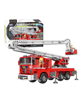 XINGBAO 03029 Fire Fighting Elevating Fire Truck Building Bricks Toy Set