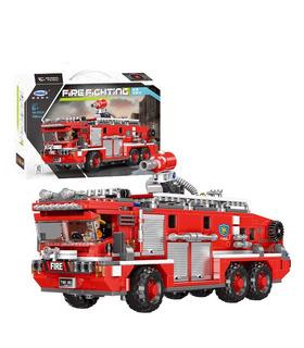 XINGBAO 03030 de Lucha contra Incendios Agua del Tanque de un Camión de Bomberos en la Construcción de Ladrillos Conjunto de