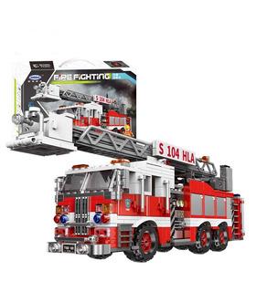 XINGBAO 03031 de Lucha contra Incendios Escalera de Incendios del Edificio de Ladrillos Conjunto de Juguete