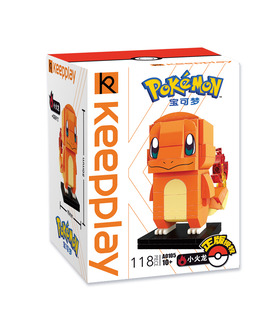 Keeppley Ppokemon A0105 Charmander Qman Building Blocks Toy Set