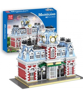 MOULD KING 11004 The Station of The Dreamland Castle Building Blocks Toy Set