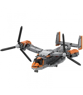 Custom Bell Boeing V-22 Osprey Building Bricks Toy Set 1725 Pieces