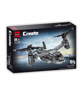 PANGU PG-13003 Bell Boeing V-22 Osprey Building Bricks Toy Set
