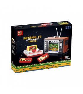 Super 18k K129 Contra TV Game Console Building Bricks Toy Set