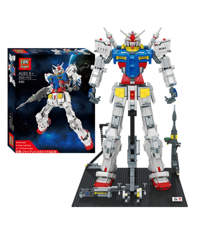 Super 18k Gundam 1:60 RX 78-2 Building Bricks Toy Set 3500 Pieces