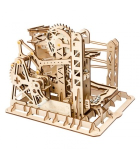 ROKR 3D Puzzle Lift Untersetzer Magic Creative Marble Run Spiel Holzbau Spielzeug Kit