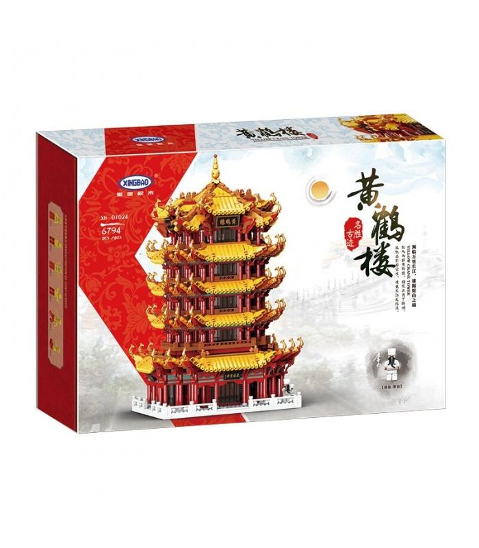 XINGBAO 01024 Gelber Kranturm Huanghelou Bausteine Spielzeugset
