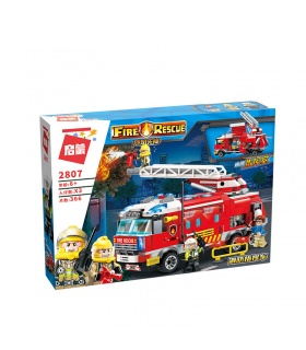 ENLIGHTEN 2807 Fire Command Truck Building Blocks Toy Set