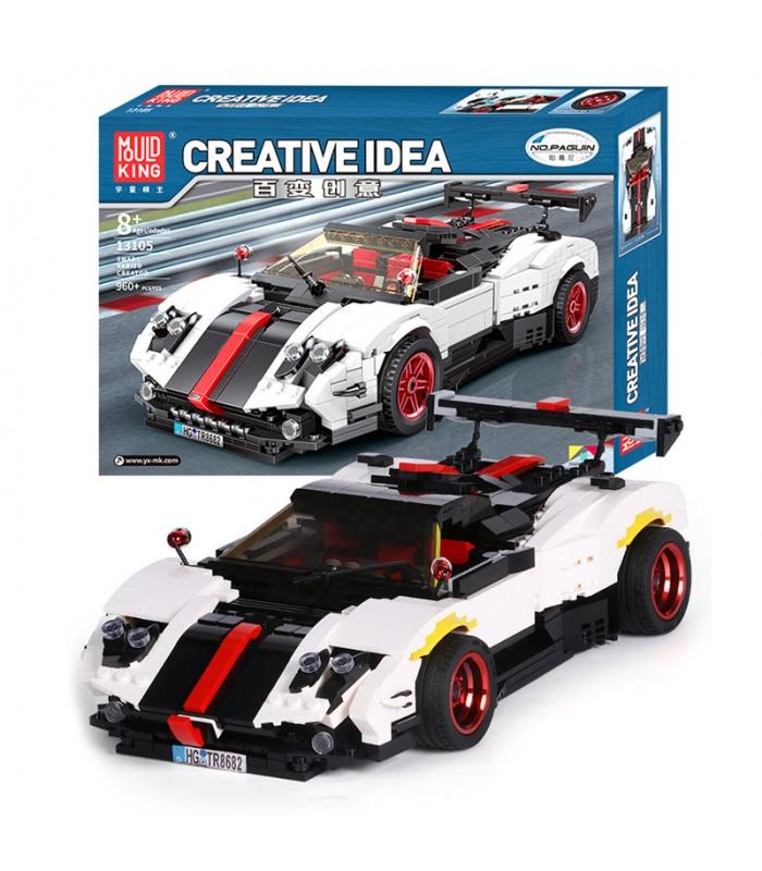 MOULD KING 13105 Pagani Zonda Cinque Roadster Creative Idea Building Blocks Toy Set