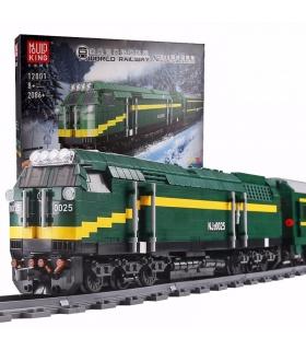 MOULD KING 12001 NJ2 Diesel Locomotives Remote Control Building Blocks Toy Set