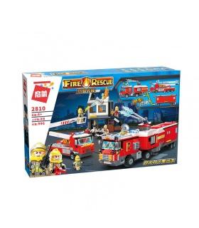 ENLIGHTEN 2810 Double Fire Truck Attack Building Blocks Toy Set