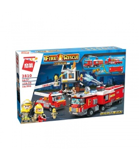 Просветите 2810 двойной пожарная машина атаки строительные блоки комплект игрушки