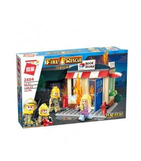 ENLIGHTEN 2804 Bookstore On Fire Building Blocks Toy Set