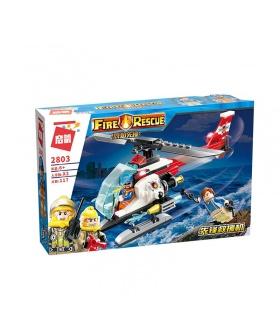 ENLIGHTEN 2803 Rescue Helicopter Building Blocks Toy Set