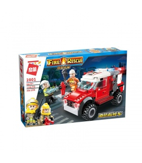 ENLIGHTEN 2801 Maintenance Car Building Blocks Toy Set