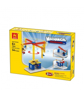 WANGE Mechanical Engineering Carousel 1301 Building Blocks Educational Learning Toy Set