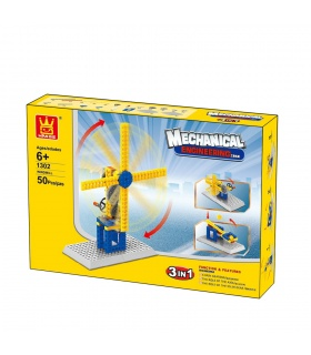 WANGE Mechanical Engineering Windmill 1302 Building Blocks Educational Learning Toy Set