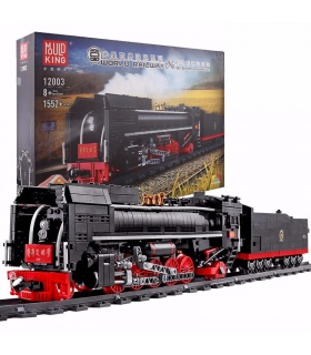 MOULD KING 12003 QJ Steam Locomotives Remote Control Building Blocks Toy Set