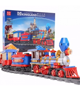 MOULD KING 12004 MKingLand Dream Train Remote Control Building Blocks Toy Set