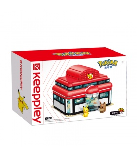 Keeppley Pokemon K20212 Pikachu Pokemon Center Qman Building Blocks Toy Set