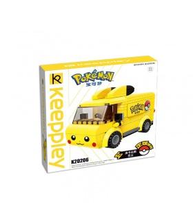 Keeppley Pokemon K20206 Pikachu Bus Qman Blocs De Construction Jouets Jeu