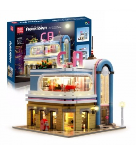 MOLD KING 16001 California Downtown Diner Restaurant von Dagupa Building Blocks Toy Set