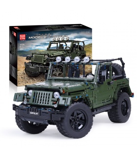 MOULD KING 13124D Army Green Off Road Vehicle Rubicon RC Building Blocks Toy Set