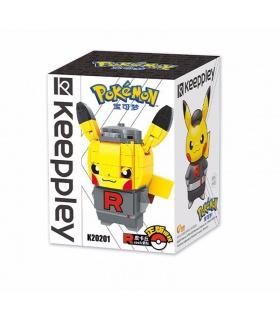 Keeppley Ppokemon K20201 Pikachu COS Fusée Qman Blocs de Construction Jouets Jeu