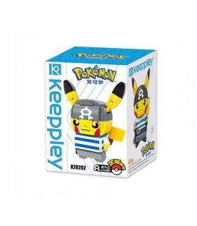 Keeppley Ppokemon K20202 Pikachu COS Water Fleet Qman Building Blocks Toy Set