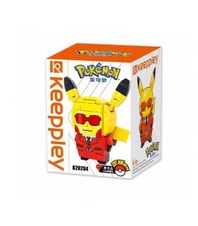 Keeppley Pokemon K20204 Pikachu COS Flash Team Qman Building Blocks Toy Set