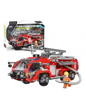 XINGBAO 03028 Fire Fighting Airport Fire Truck Building Bricks Toy Set