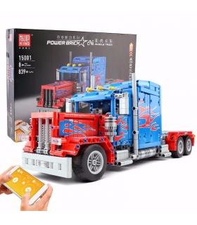 MOULD KING 15001 Peterbilt 389 Muscle Truck Optimus Prime Building Blocks Toy Set