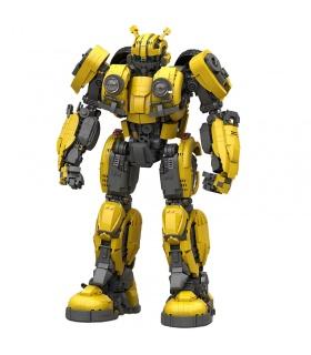 Custom MOC Bumblebee Transforming Building Bricks Toy Set 3500 Pieces
