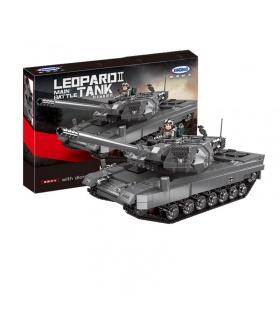 XINGBAO 06032 Leopard 2 Principal Tanque de Batalla de los Ladrillos del Edificio Conjunto de Juguete