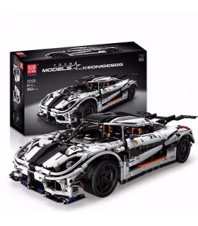 MOULD KING 13120 Koenigsegged Sports Racing White Car Building Blocks Toy Set