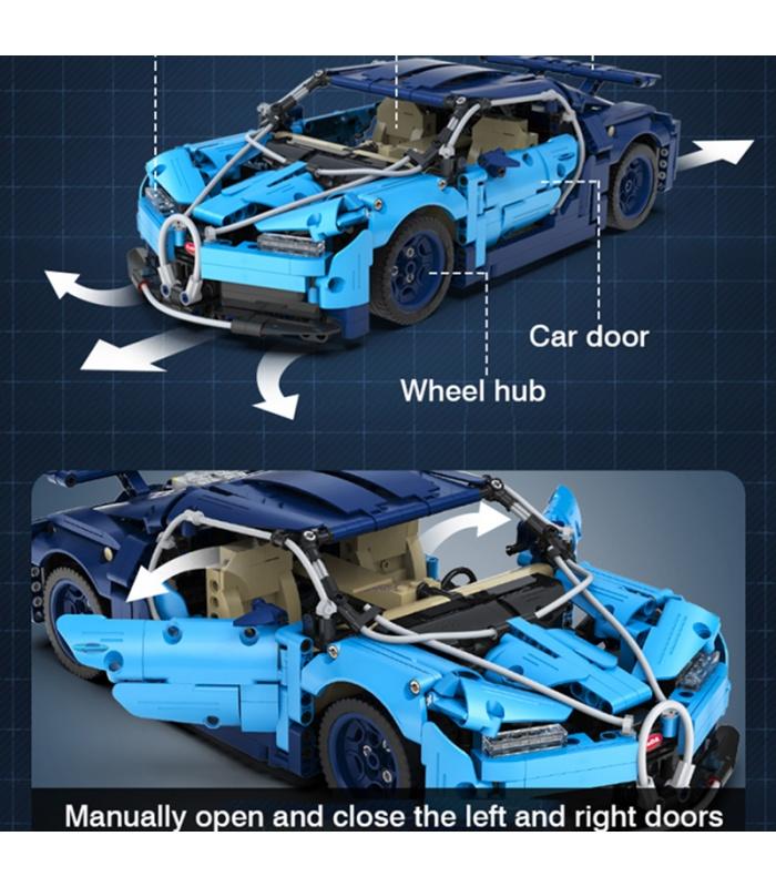 CaDA C61028 Blue Phantom High-tech Famous Racing Car Building Blocks Toy Set