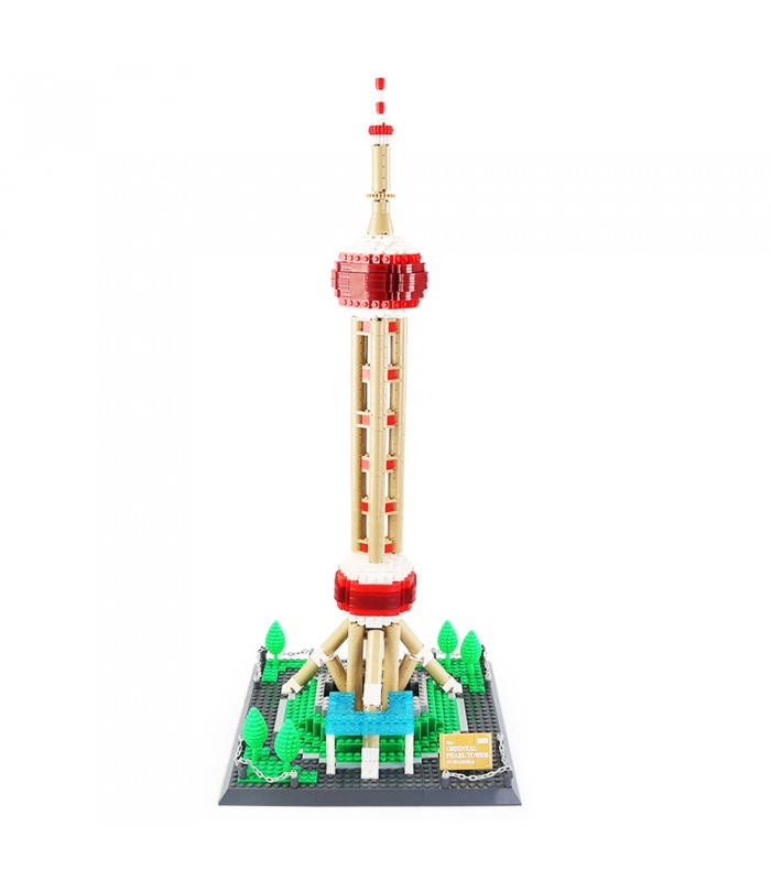 WANGE Famous Architecture Oriental Pearl Tower Stereo Model 5224 Building Blocks Toy Set