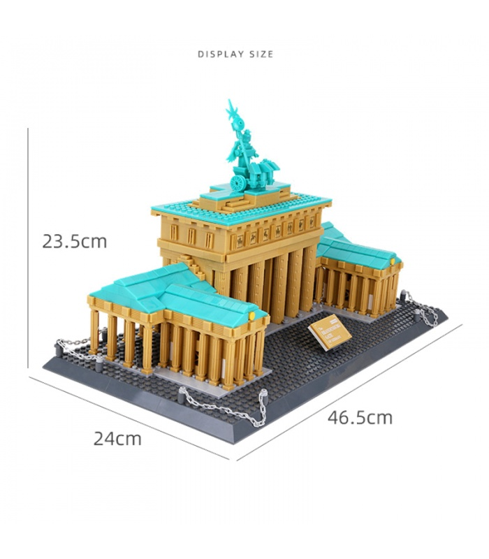 WANGE Street View Famous Brandenburg Gate Model 6211 Building Blocks Toy Set