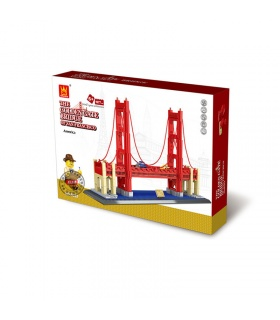 WANGE Street View Series Golden Gate Bridge Model 6210 Building Blocks Toy Set