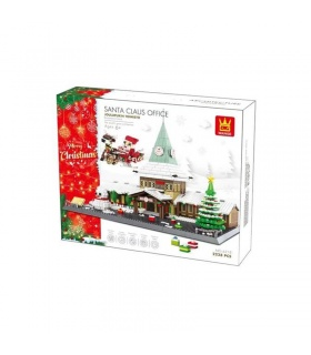WANGE Santa Claus Office Christmas Tree Model 6218 Building Blocks Toy Set