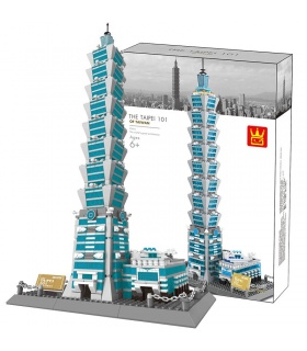 WANGE Architecture The Taipei 101 3D Model 5221 Building Blocks Toy Set