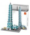 WANGE Architecture The Taipei 101 3D Model 5221 Building Blocks Toy Set