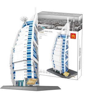 WANGE Dubai Burj Al Arab Hotel 5220 Building Blocks Toy Set