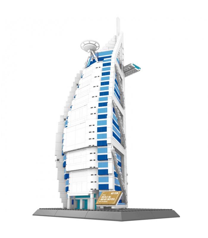 WANGE Dubai Burj Al Arab Hotel 5220 Building Blocks Toy Set