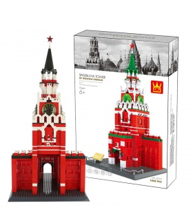 WANGE Architecture The Spasskaya Tower of Moscow Russia Kremlin 5219 Building Blocks Toy