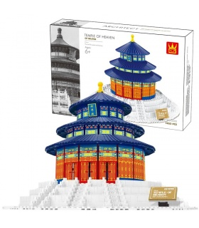 WANGE The Temple Of Heaven Of Beijing 5222 Building Blocks Toy Set