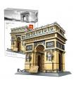 WANGE Architecture Paris Arc De Triomphe 5223 Building Blocks Toy Set