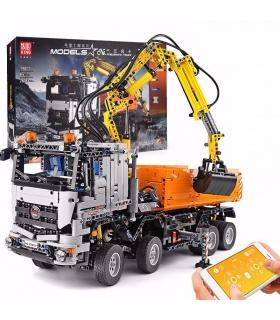 FORMKÖNIG 19007 High-Tech Arocs Pneumatischer LKW Fernbedienung Bausteine Spielzeugset